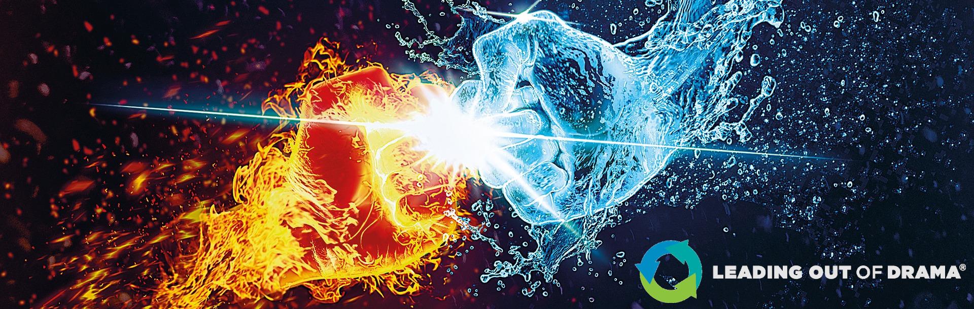 Feuer und Wasser als Fäuste im Konflikt