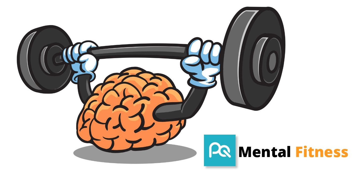 Mental Fitness Brain with Dumbbell